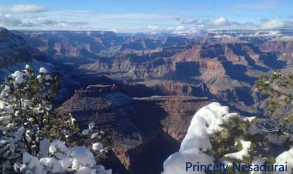 snow at Grand Canyon National Park